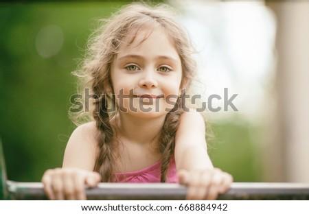 Portrait of a little girl #668884942
