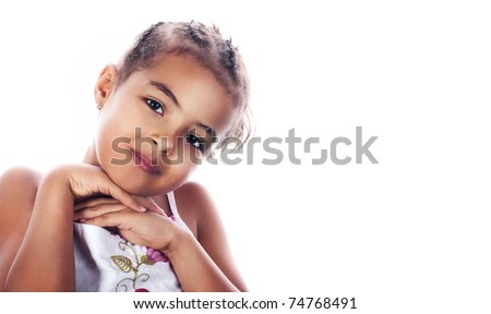 Portrait of a little girl