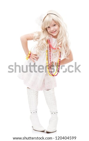 Portrait of a little girl fashionista