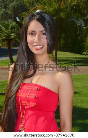 Portrait of a lovely latina girl