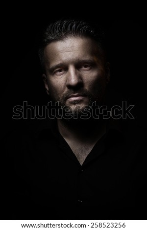 Portrait of a man, closeup Stock photo ©