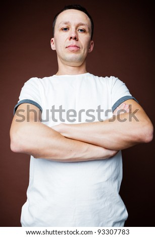 Portrait of a man in a T-shirt