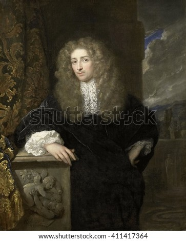 Portrait of a Man, possibly of the van Citters Family, by Caspar Netscher, 1678, Dutch oil painting