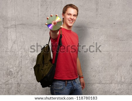 Portrait Of A Man With Compact Disc, Indoor