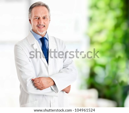 Portrait of a mature doctor