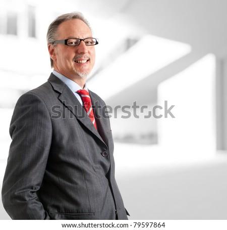 Portrait of a mature handsome businessman.