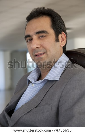 stock photo : Portrait of a mature Indian muslim businessman