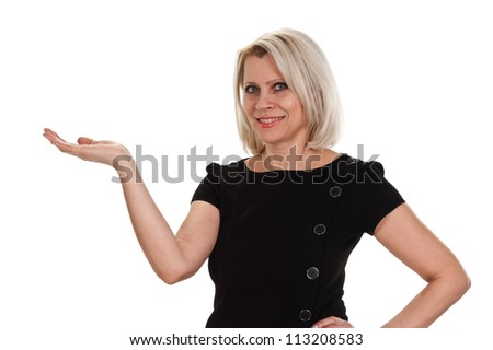 Portrait of a mature woman  isolated on white background
