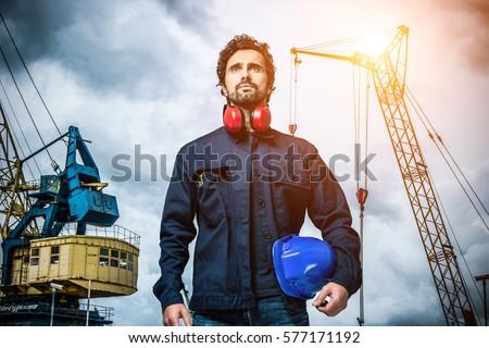 Portrait of a mechanical worker