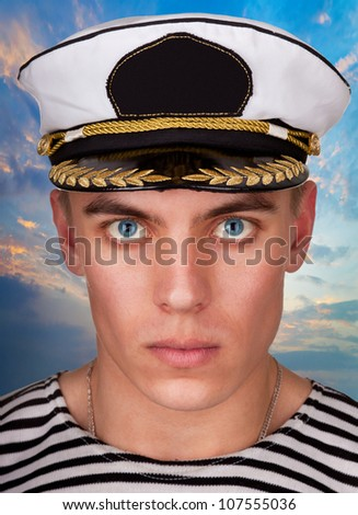"""Portrait of a military sailor in style """"Esquire"""""""