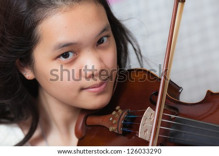 Portrait of a musician girl