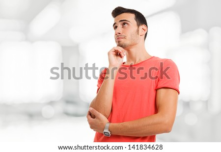 Portrait of a pensive young man