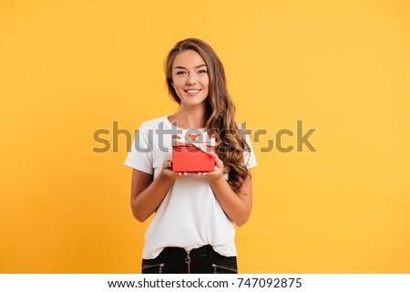 portrait of a pretty smiling...