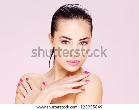 Portrait of a pretty young brunette woman