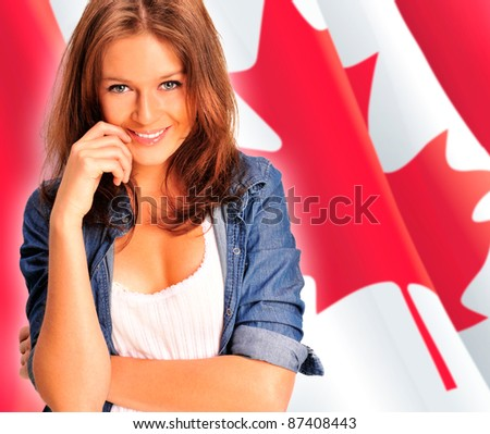 https://image.shutterstock.com/display_pic_with_logo/282061/282061,1319551618,17/stock-photo-portrait-of-a-pretty-young-woman-against-a-canadian-flag-smiling-87408443.jpg