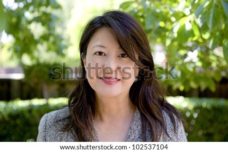 portrait of a professional asian woman