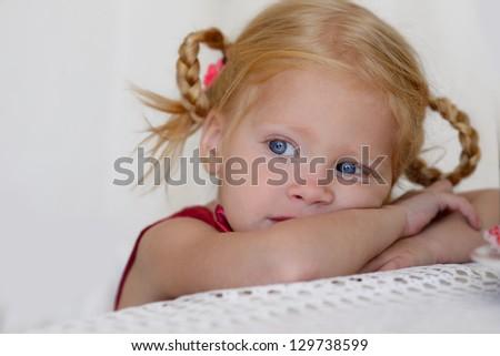 portrait of a sad girl