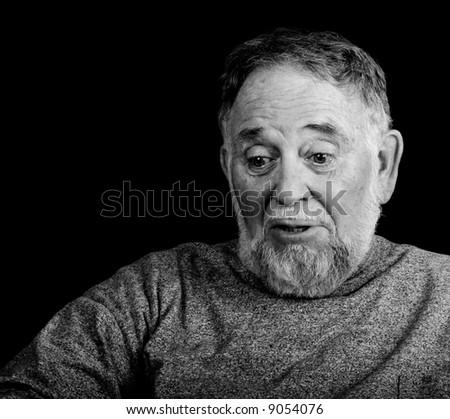portrait of a sad man crying
