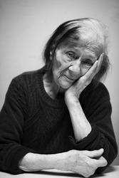 Portrait of a sad Senior woman.