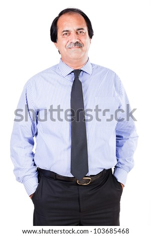 portrait of a satisfied mature businessman isolated on white