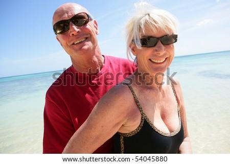 Portrait of a senior couple on the beach