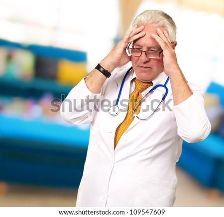 Portrait Of A Senior Doctor, Indoor