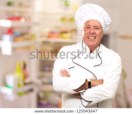 Portrait Of A Senior Male Chef, Indoor