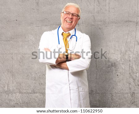 Portrait Of A Senior Man Doctor, Indoor