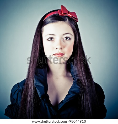 portrait of a sensual fantasy girl - stock photo