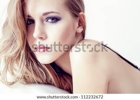 portrait of a sensual girl
