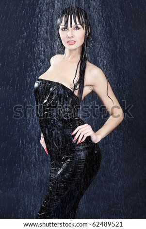 Portrait of a sexy young woman under water. Theme: beauty, spa, healthcare.