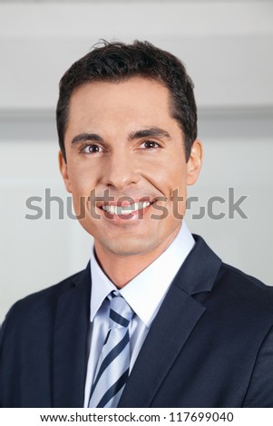 Portrait of a smiling attractive business manager
