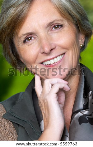 Portrait of a smiling beautiful mature woman