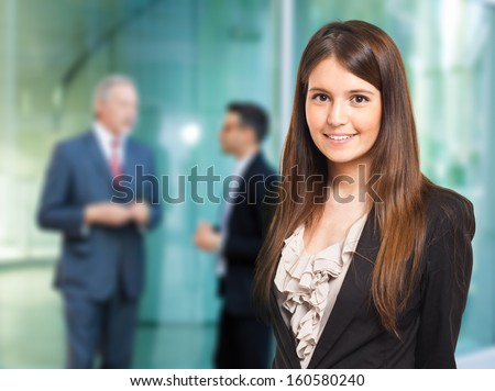 Portrait of a smiling businesswoman #160580240