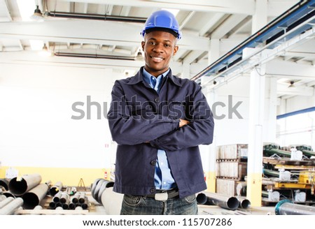 Portrait of a smiling engineer