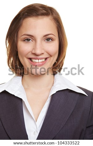 Portrait of a smiling female executive in suit
