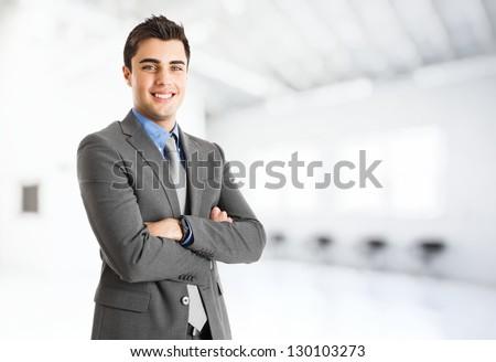 Portrait of a smiling handsome businessman