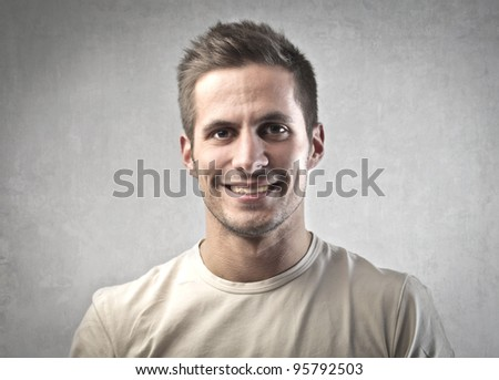 Portrait of a smiling handsome young man