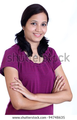 Portrait of a smiling young Indian woman