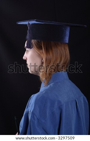 Portrait of a student girl graduated from the university