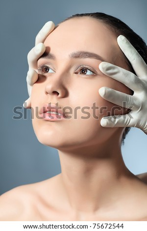 Portrait of a styled professional model. Theme: spa, healthcare, fashion