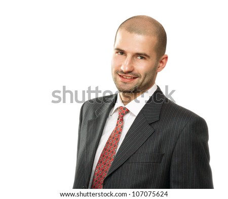 Portrait of a successful businessman on white