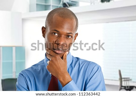 Portrait of a thoughtful businessman