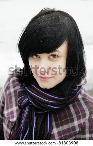 Portrait of a winter young woman