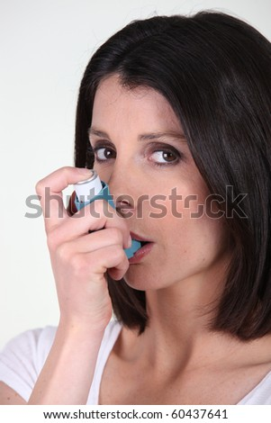 Portrait of a woman healing her asthma