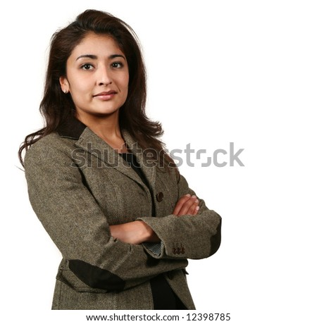 portrait of a woman in career - stock photo