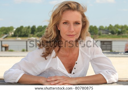 portrait of a woman outdoors