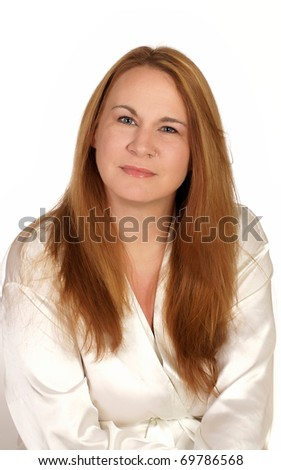 Portrait of a woman ready for a spa treatment