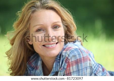portrait of a woman smiling
