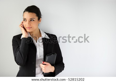 Portrait of a woman with a cell phone